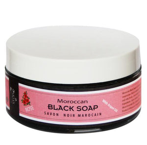 Moroccan Black Soap - Rose - 8 oz, 16 oz, 5 k