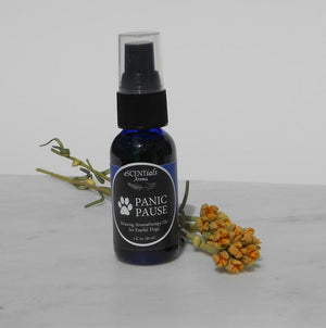 Panic Pause | The Jewel Closet | Panic Pause is a great natural remedy to help ease their emotions. The premium oils in this blend are dog safe and very soothing.