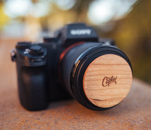 Load image into Gallery viewer, Wooden Lens Cap