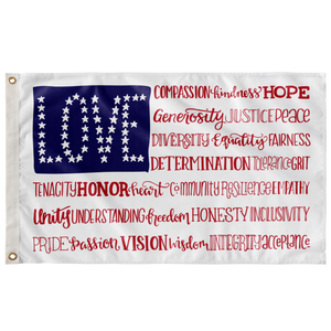 America the Wonderful 3'x5' Wall Flag - Ships in 1-2 weeks.