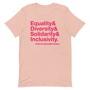 Equality, Diversity, Solidarity, Inclusivity Relaxed Fit T-Shirt