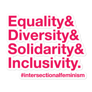 Equality, Diversity, Solidarity, Inclusivity Sticker