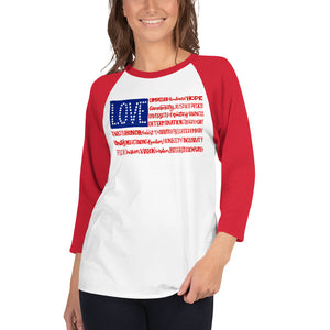 America The Wonderful 3/4 Sleeve Baseball Tee