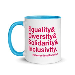 Equality, Diversity, Solidarity, Inclusivity Mug