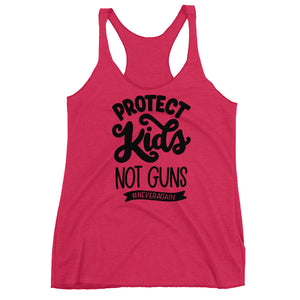Protect Kids Not Guns Women's Racerback Tank