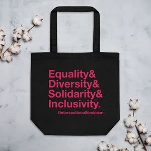 Equality, Diversity, Solidarity, Inclusivity Organic Cotton Tote Bag
