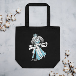 RBG The Resistance Never Dies Organic Cotton Tote Bag