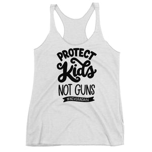 Protect Kids Not Guns Women's Racerback Tank Top