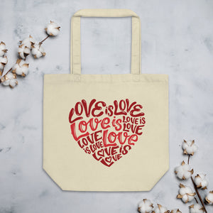 Love Is Love Organic Cotton Tote Bag