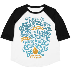There Is Always Light Youth Baseball Tee