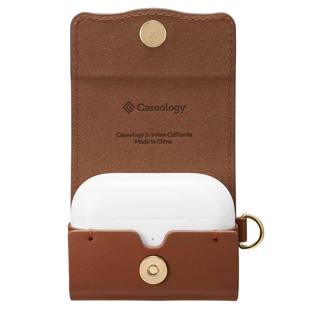 Chic Leather Chic Brown for Airpods Pro