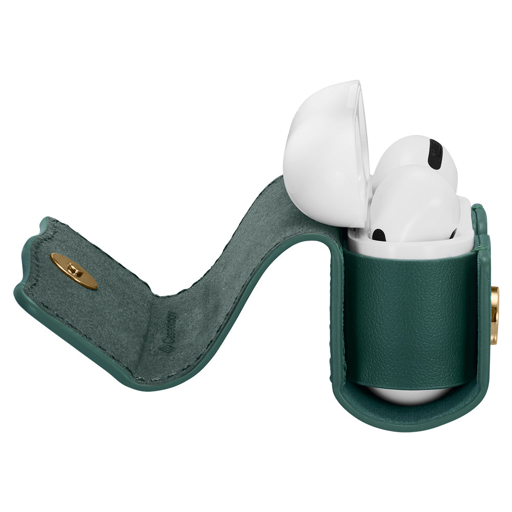 Chic Leather Chic Green for Airpods Pro