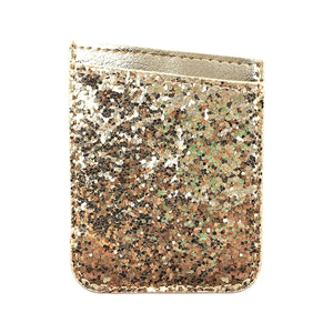 Wallet Card Case Gold Glitter