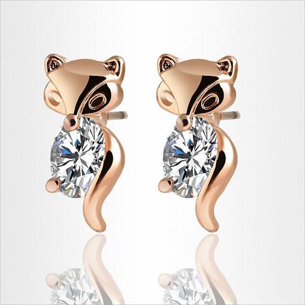 Felina Fox - Adamantine Zircon Fox Earrings