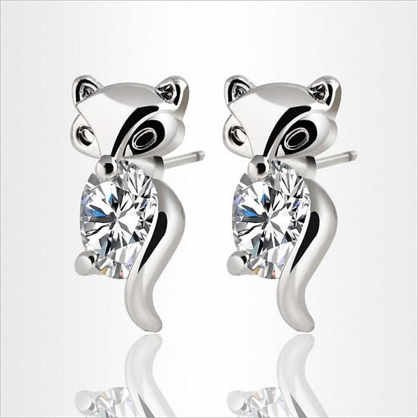 Free Felina Fox - Adamantine Zircon Fox Earrings