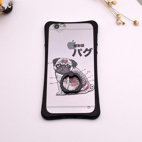 Pam Ogie - Pug iPhone Case with Ring Stand