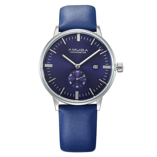 Genuine Amuda Leather Analog Watch