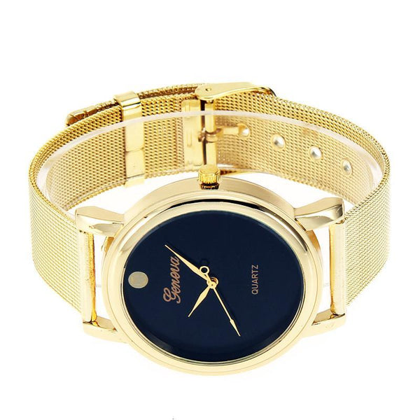 Original Geneva Womens Classic Gold Tone Analog Watch