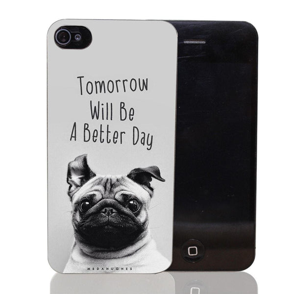Free Day Ogie - Optimistic Pug iPhone Case