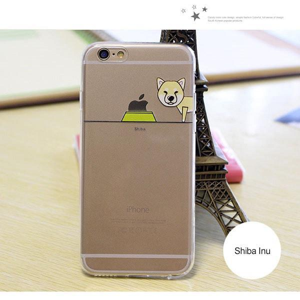 Clip Ogie - Cute Transparent Dog Iphone Case