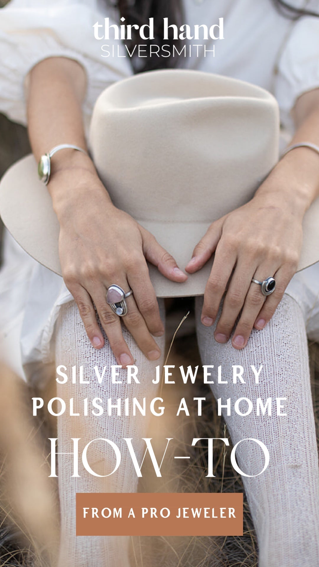 how to polish and care for handmade sterling silver jewelry