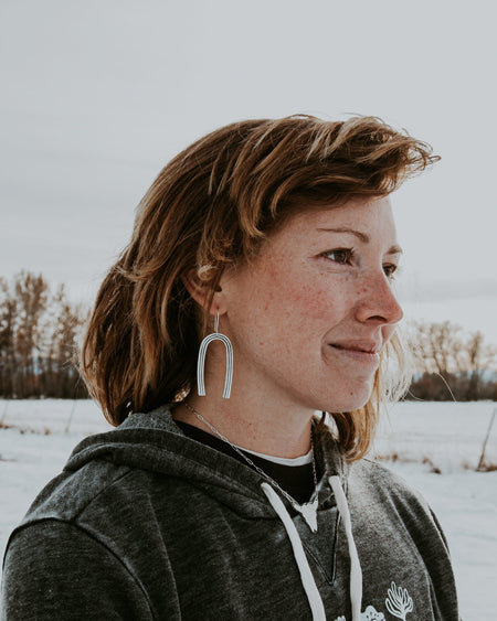 Clear Skies Dangle Earrings - Third Hand Silversmith handmade jewelry, Bozeman, Montana
