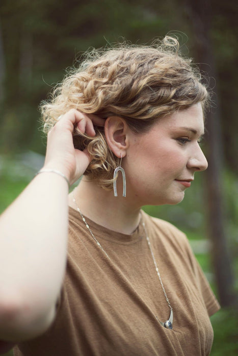 Clear Skies Dangle Earrings - Third Hand Silversmith