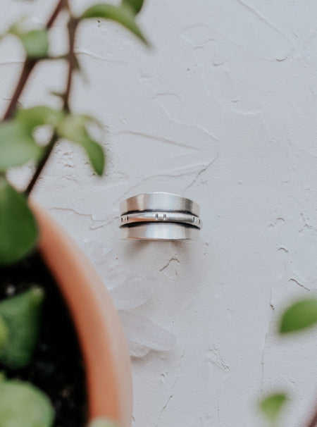 Horizon Ring - Semi Adjustable Band - Third Hand Silversmith handmade jewelry, Bozeman, Montana