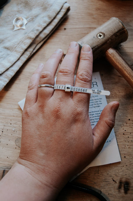 Request a FREE Ring Sizer! - Third Hand Silversmith handmade jewelry, Bozeman, Montana