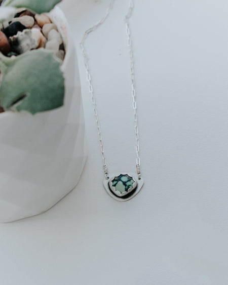 Simple Turquoise Necklace Style A - Third Hand Silversmith handmade jewelry, Bozeman, Montana