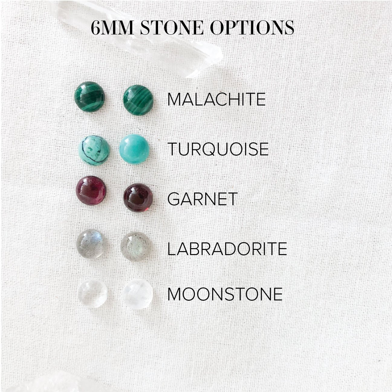 Stone and Silver Studs - Third Hand Silversmith