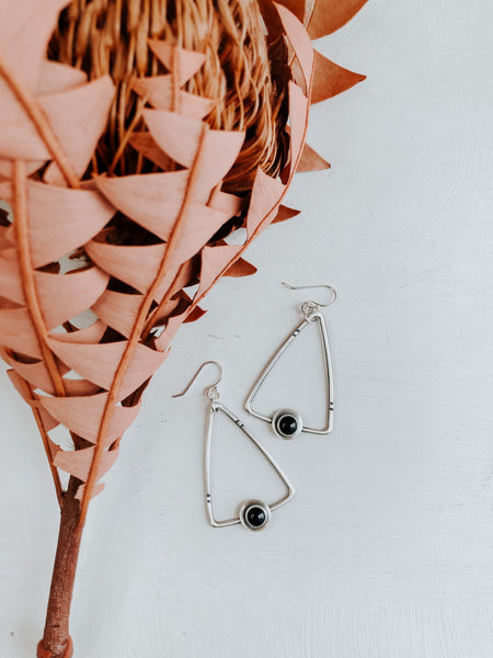 Trapeze Earrings - Third Hand Silversmith handmade jewelry, Bozeman, Montana