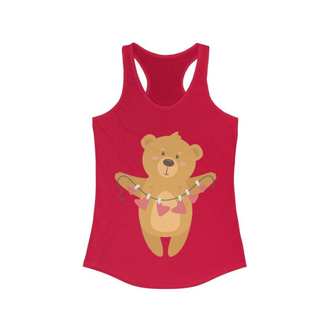 Teddy Bear Offering a Love Necklace - Tank Top - Mind Bend Apparel