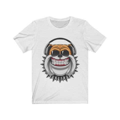 Bulldog Listening To Headphones - T-shirt - Mind Bend Apparel