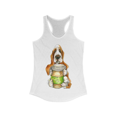 Basset Hound Offering You Coffee - Tank Top - Mind Bend Apparel
