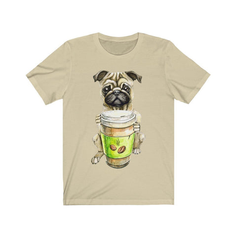 Pug Offering You Coffee - T-shirt - Mind Bend Apparel