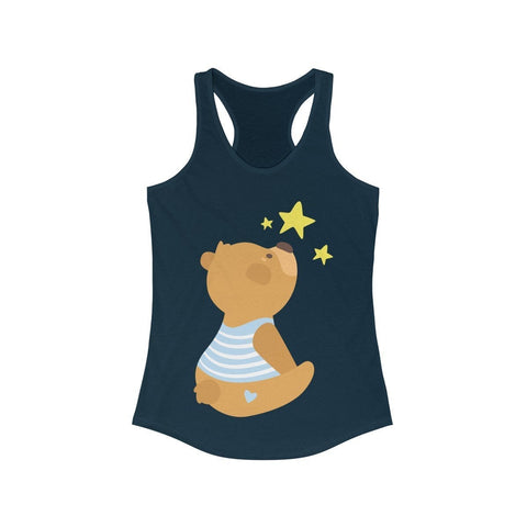 Teddy Bear Watching The Stars - Tank Top - Mind Bend Apparel