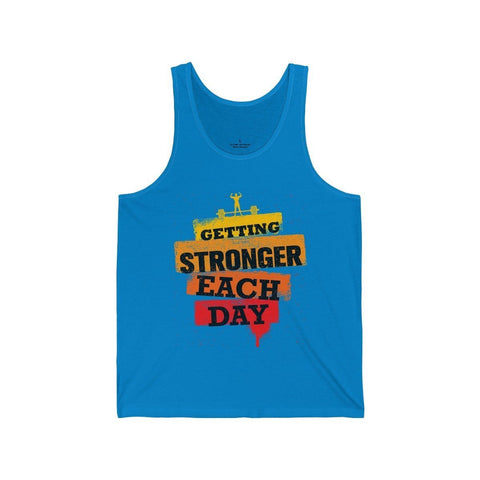 Getting Stronger Each Day - Unisex Tank - Mind Bend Apparel