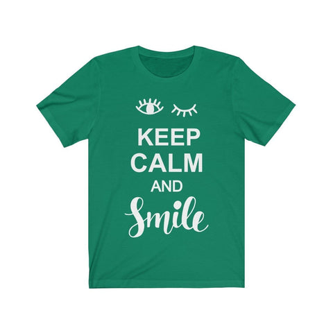 Keep Calm & Smile - T-shirt - Mind Bend Apparel