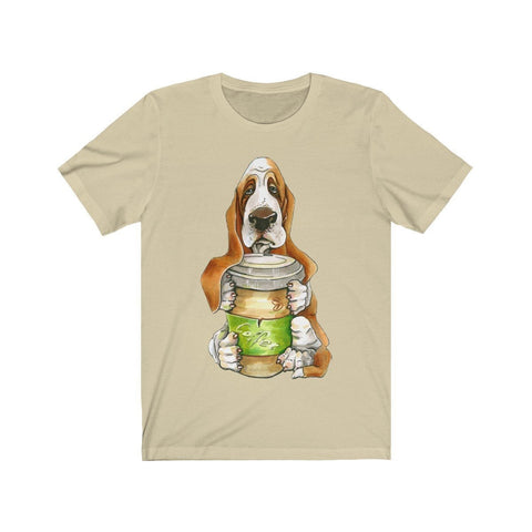 Basset Hound Offering You Coffee - T-shirt - Mind Bend Apparel
