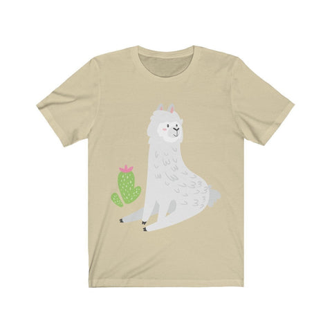 Lama Sitting Near a Cactus - T-shirt - Mind Bend Apparel