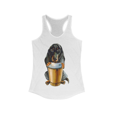Dachshund Offering You Coffee - Tank Top - Mind Bend Apparel