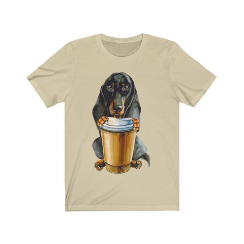 Dachshund Offering You Coffee - T-shirt - Mind Bend Apparel