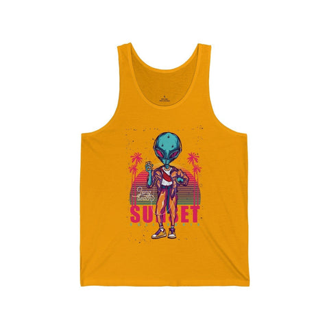 Alien Long Beach Sunset California - Unisex Tank - Mind Bend Apparel