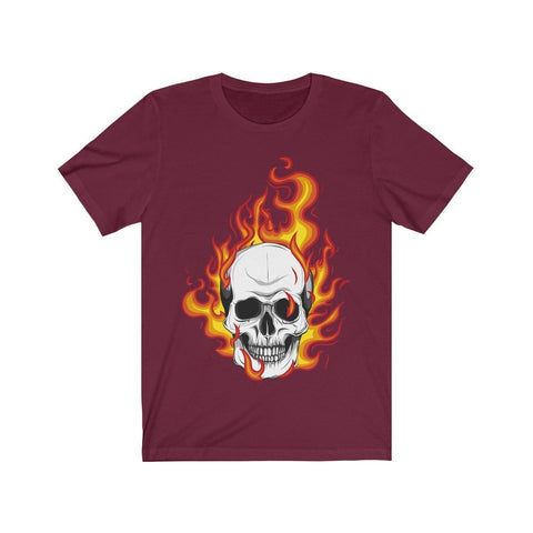 Skull On Fire - T-shirt - Mind Bend Apparel