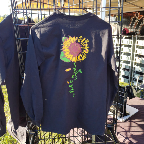 Sunflower Long Sleeve T-shirt - Black