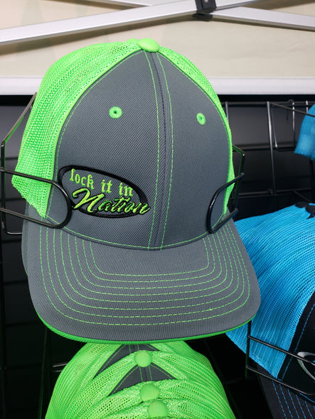Graphite/Neon Green Trucker Mesh Hat