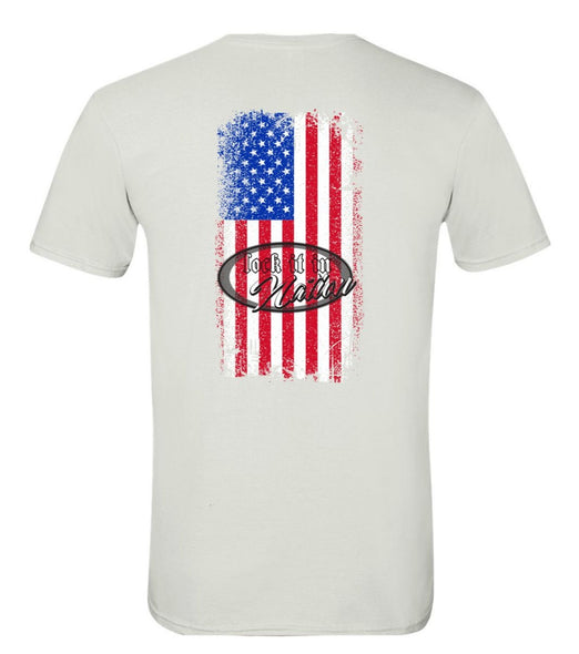 AMERICA T-shirt - White/Color Flag
