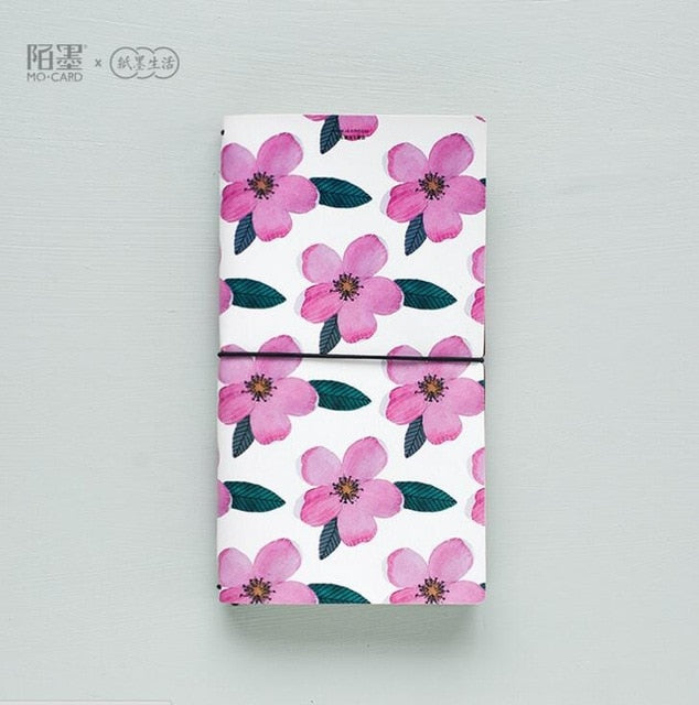 Pink Flowers Traveller's Notebook