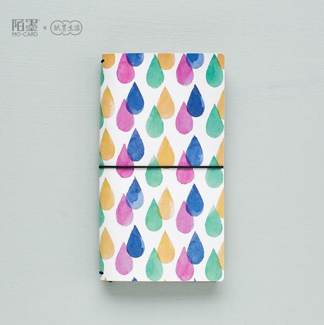 Colorful Raindrops Traveller's Notebook